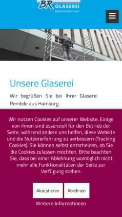 Vorschau der mobilen Webseite www.glaserei-rembde.de, Glaserei Bernd Rembde GmbH