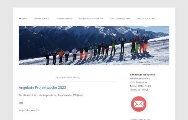Vorschau von www.gymnasium-taunusstein.de, Gymnasium Taunusstein