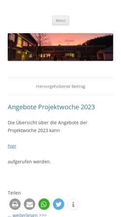 Vorschau der mobilen Webseite www.gymnasium-taunusstein.de, Gymnasium Taunusstein