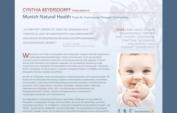 Vorschau von www.munichnaturalhealth.com, Cynthia Ann Myers