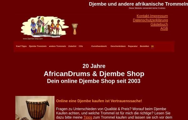 Vorschau von www.djembe-shop.com, Djembe-Shop, Inh. Sascha Barth