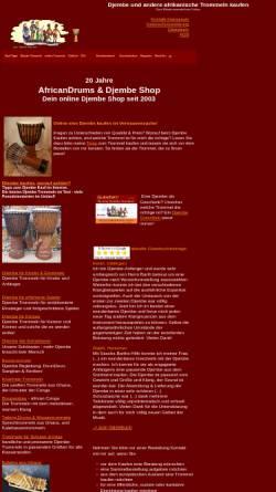 Vorschau der mobilen Webseite www.djembe-shop.com, Djembe-Shop, Inh. Sascha Barth