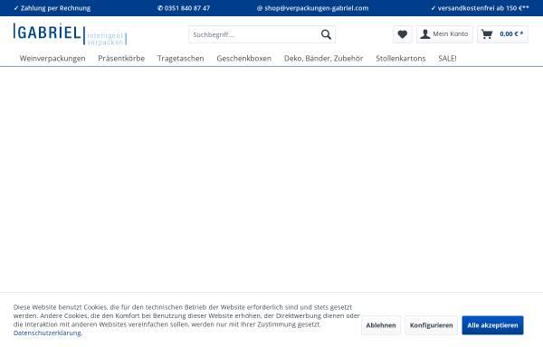 Vorschau von www.verpackungen-gabriel.com, Gabriel GmbH