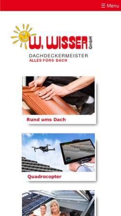 Vorschau der mobilen Webseite www.wisser-dach.de, W. Wisser GmbH
