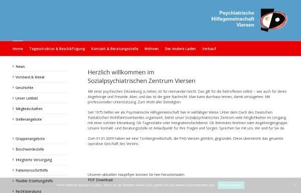Vorschau von www.phg-viersen.de, Psychiatrische Hilfsgemeinschaft Viersen e.V. (PHG)