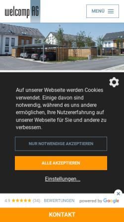 Vorschau der mobilen Webseite www.carport-welcomp.de, Welcomp AG