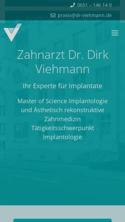 Vorschau der mobilen Webseite www.dr-viehmann.de, Dr. med. dent. Dirk Viehmann