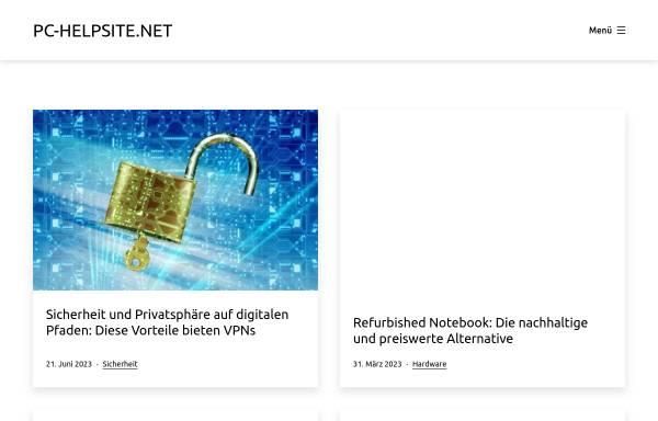 Vorschau von www.pc-helpsite.net, PC-Helpsite.net
