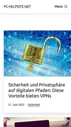 Vorschau der mobilen Webseite www.pc-helpsite.net, PC-Helpsite.net