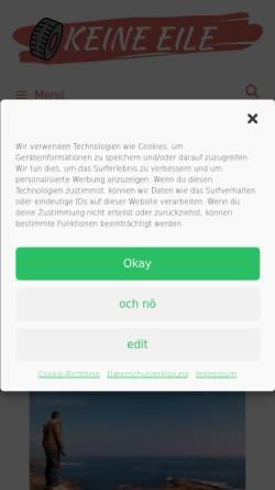 Vorschau der mobilen Webseite www.keine-eile.de, Keine Eile