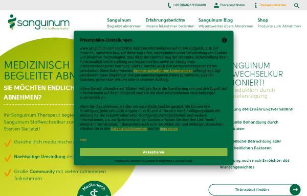 Vorschau von www.sanguinum.com, Sanguinum Gesundheitszentrum Uhlenhorst