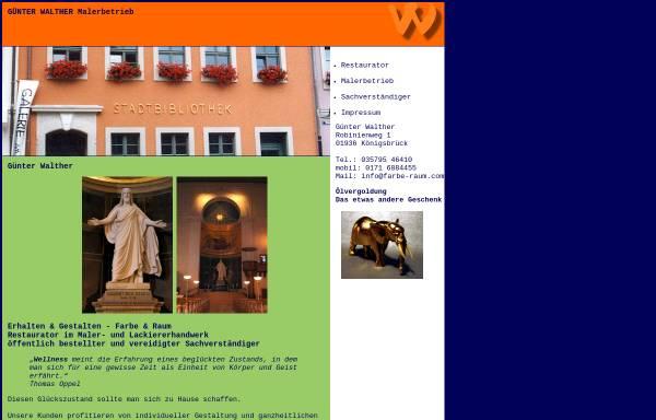 Vorschau von www.farbe-raum.com, Malermeister Günter Walther
