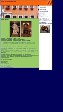 Vorschau der mobilen Webseite www.farbe-raum.com, Malermeister Günter Walther