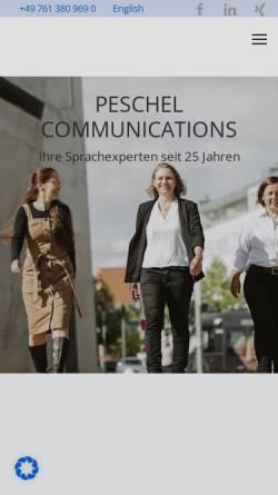 Vorschau der mobilen Webseite www.peschel-communications.de, Peschel Communications GmbH
