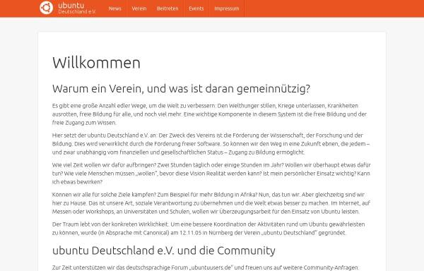 Vorschau von verein.ubuntu-de.org, Ubuntu Deutschland e. V.