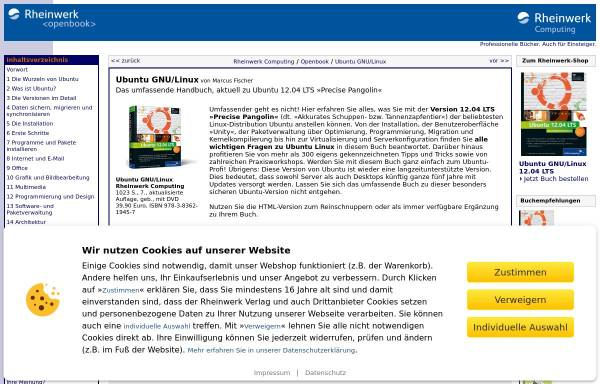 Vorschau von openbook.galileocomputing.de, Ubuntu GNU/Linux