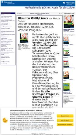 Vorschau der mobilen Webseite openbook.galileocomputing.de, Ubuntu GNU/Linux