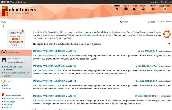 Vorschau von ubuntuusers.de, UbuntuUsers.de