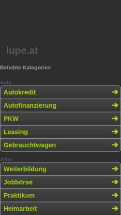 Vorschau der mobilen Webseite www.ah-wbl.de, AH Spielgemeinschaft SV Wiesbach, TuS Bechhofen, SV Lambsborn