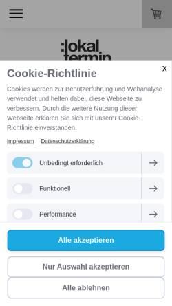 Vorschau der mobilen Webseite www.lokaltermin-reisen.de, Lokaltermin Reisen - Petra Venzke