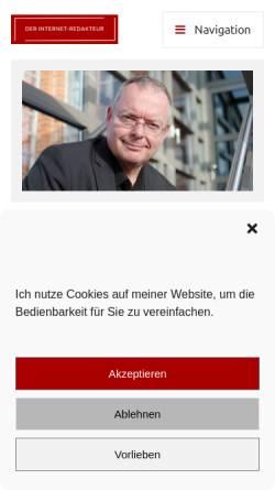 Vorschau der mobilen Webseite der-internet-redakteur.de, Thomas Noll - Der Internet-Redakteur