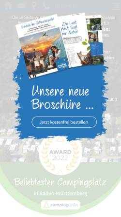 Vorschau der mobilen Webseite www.camping-kirchzarten.de, Camping Kirchzarten