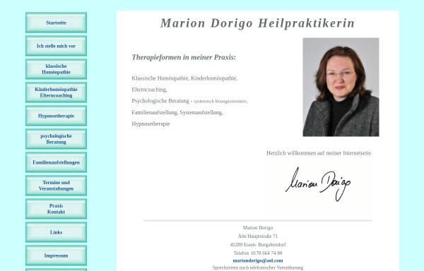 Vorschau von www.mariondorigo.de, Marion Dorigo