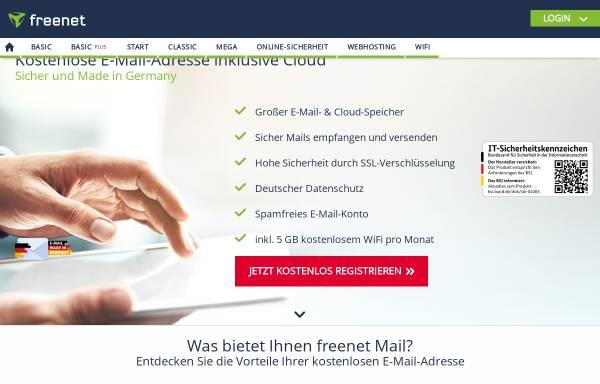 Vorschau von email.freenet.de, freenetMail
