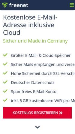 Vorschau der mobilen Webseite email.freenet.de, freenetMail