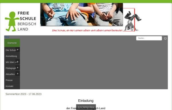 Vorschau von www.fsbl.de, Freie Schule Bergisch Land e.V