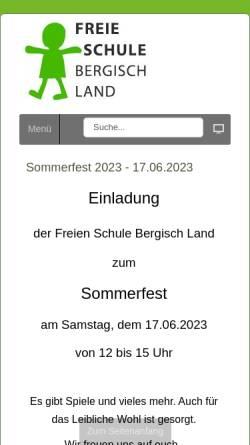 Vorschau der mobilen Webseite www.fsbl.de, Freie Schule Bergisch Land e.V