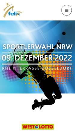 Vorschau der mobilen Webseite www.nrw-sportlerdesjahres.de, NRW-Sportler des Jahres
