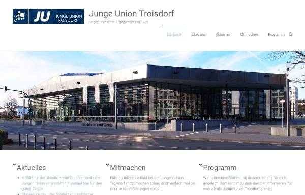 Vorschau von www.ju-troisdorf.de, Junge Union Troisdorf