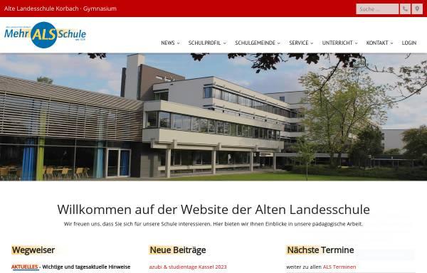Vorschau von www.alte-landesschule.de, Alte Landesschule, Gymnasium seit 1579