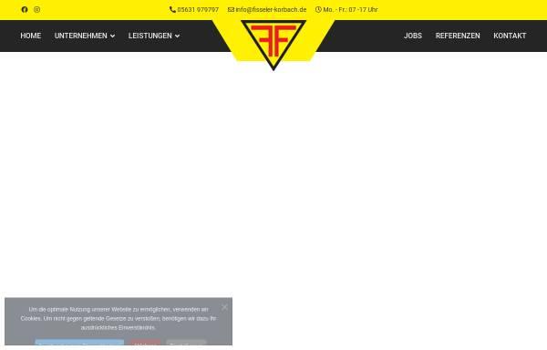 Vorschau von www.fisseler-korbach.de, Fr. Fisseler GmbH und Co KG