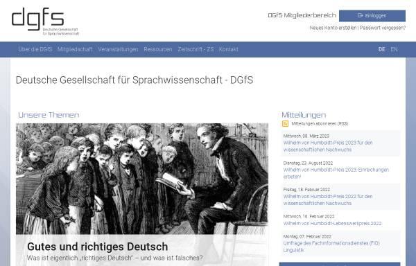 Vorschau von dgfs.de, Deutsche Gesellschaft für Sprachwissenschaft (DGfS)