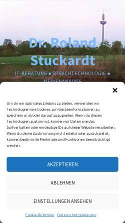 Vorschau der mobilen Webseite www.anaphernresolution.de, Automatische Anaphernresolution und Koreferenzresolution