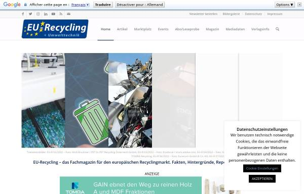 Vorschau von recyclingportal.eu, Europäisches Recyclingportal - Fachinformation MSV Mediaservice & Verlag GmbH