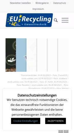 Vorschau der mobilen Webseite recyclingportal.eu, Europäisches Recyclingportal - Fachinformation MSV Mediaservice & Verlag GmbH
