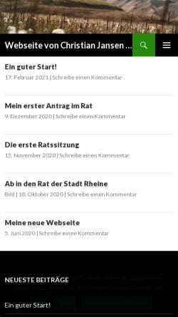 Vorschau der mobilen Webseite www.christian-jansen.de, Jansen, Christian
