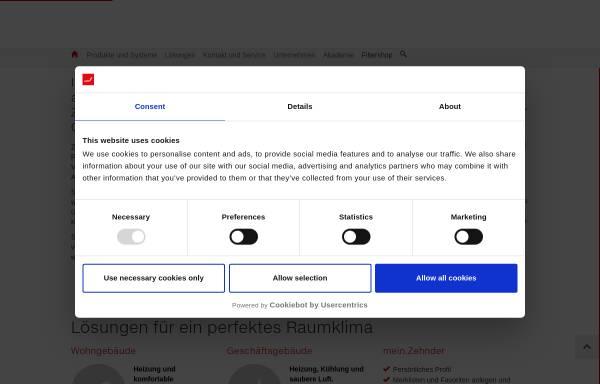 Zehnder GmbH in Lahr: Heizkörper und -kessel, Wärme- und ...