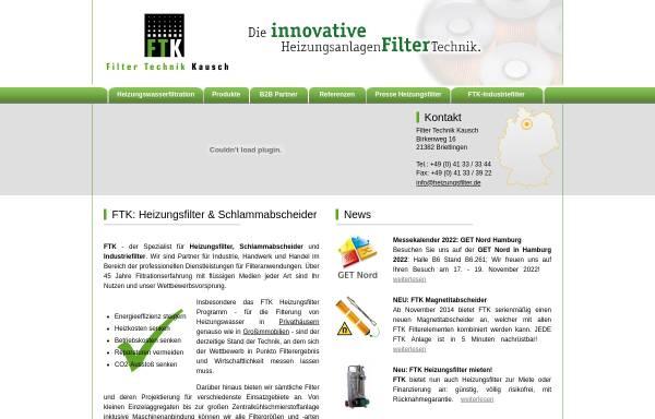Vorschau von www.heizungsfilter.de, Filter Technik Kausch