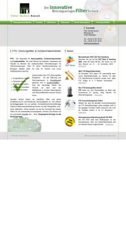Vorschau der mobilen Webseite www.heizungsfilter.de, Filter Technik Kausch