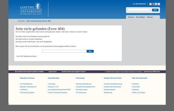 Vorschau von user.uni-frankfurt.de, VFMG - Vereinigung der Freunde der Mineralogie und Geologie