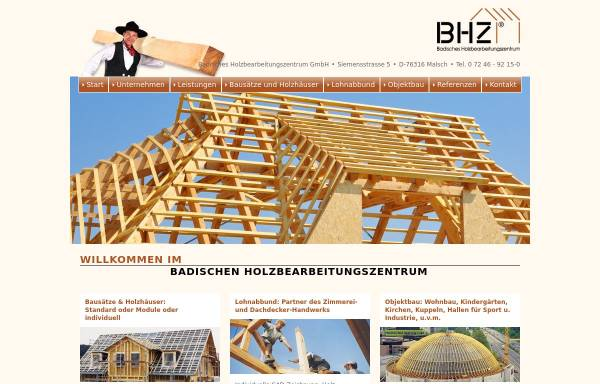 Vorschau von www.bhz-gmbh.de, Badisches Holzbearbeitungszentrum