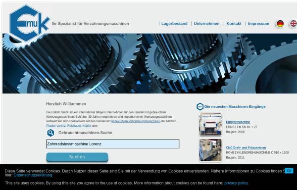 Vorschau von www.emuk.de, Emuk Werkzeugmaschinen GmbH