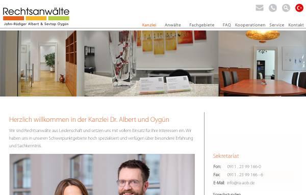 Vorschau von www.ra-aob.de, Rechtsanwälte Albert, Oygün, Bıyıklıoğlu