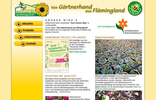 Vorschau von www.flaeminggruen.de, Zum Grünen Weg Gartenbau GbR