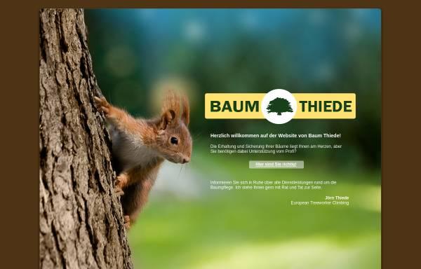 Vorschau von www.baumthiede.de, Baum Thiede, Jörn Thiede