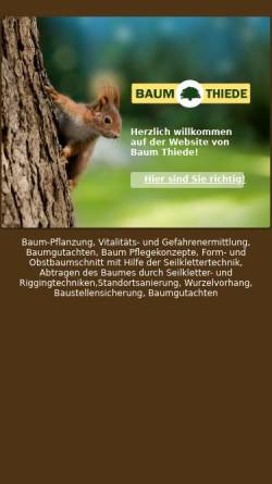 Vorschau der mobilen Webseite www.baumthiede.de, Baum Thiede, Jörn Thiede